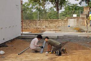 Construint el jardí del centre
